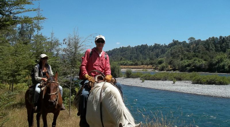 horseback riding lakes district Chile Puerto Montt area